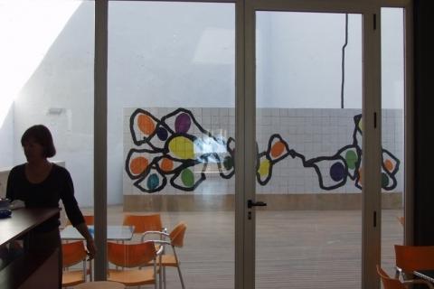 Fresque murale - Institut français de Valence, Espagne, 2002