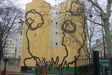 Mur peint, Ville de Paris, Paris XVIIIè, 2002
